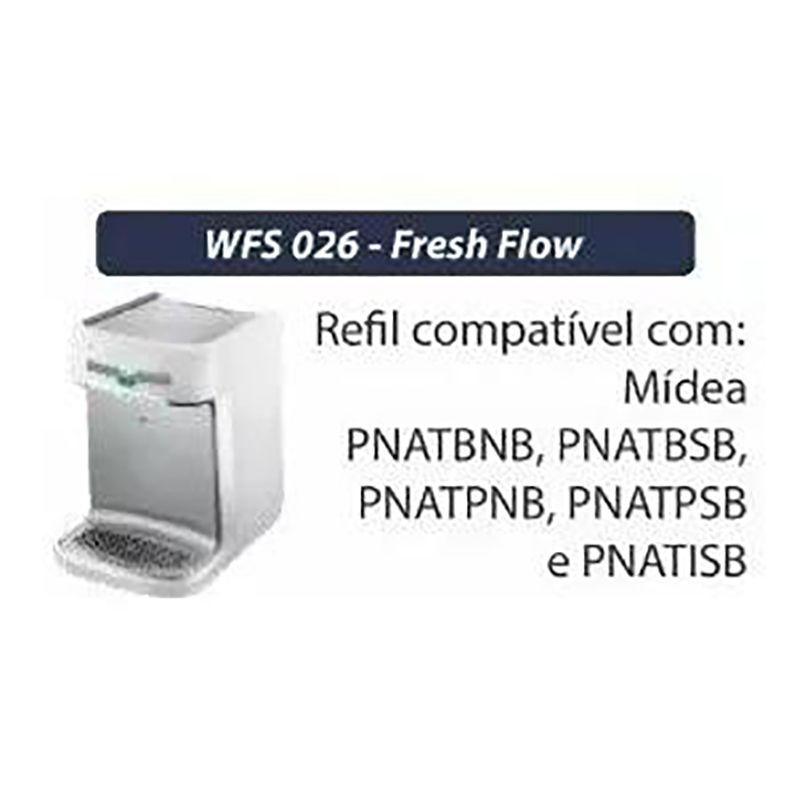 Refil WFS 026 Fresh Flow Filtro Midea Serie Pnatbn