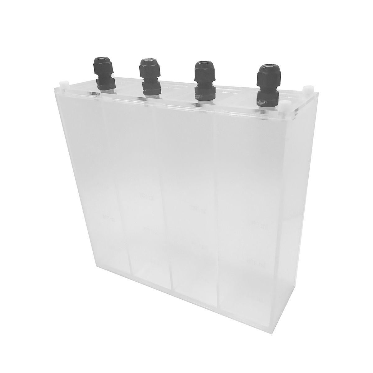 Reservatório E Caixa 4 seções 4 x 1 Litro - 4 Litros RRJ