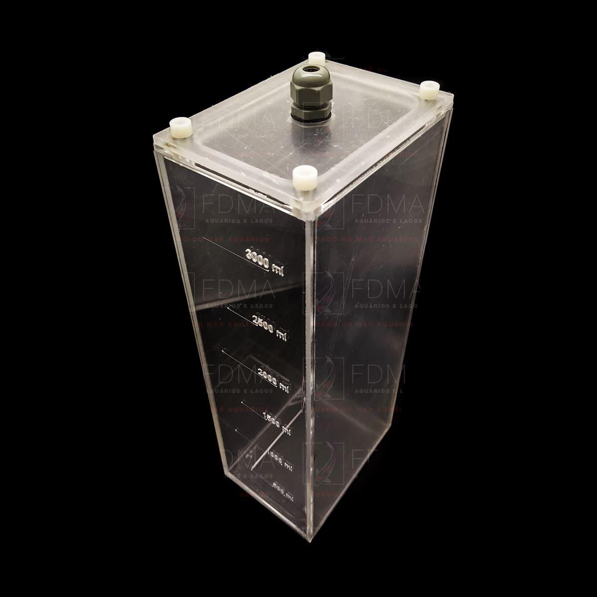 Reservatório para Soluções Balling 1 Seção - 3 Litros RRJ