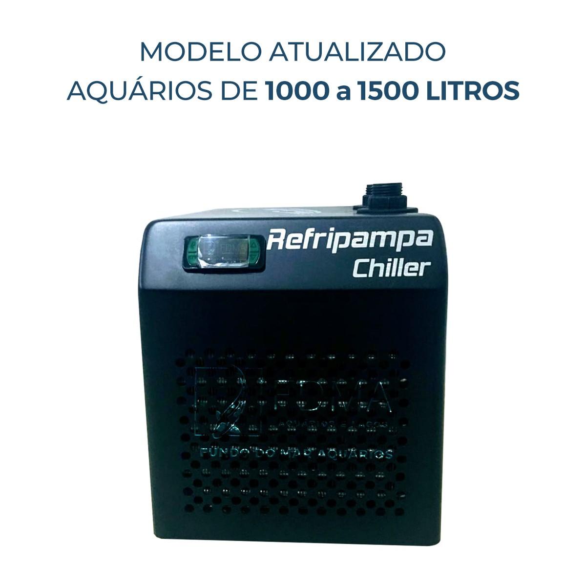 Resfriador Chiller Refripampa 1/3+ Hp RF1500  Aquário 1500lL