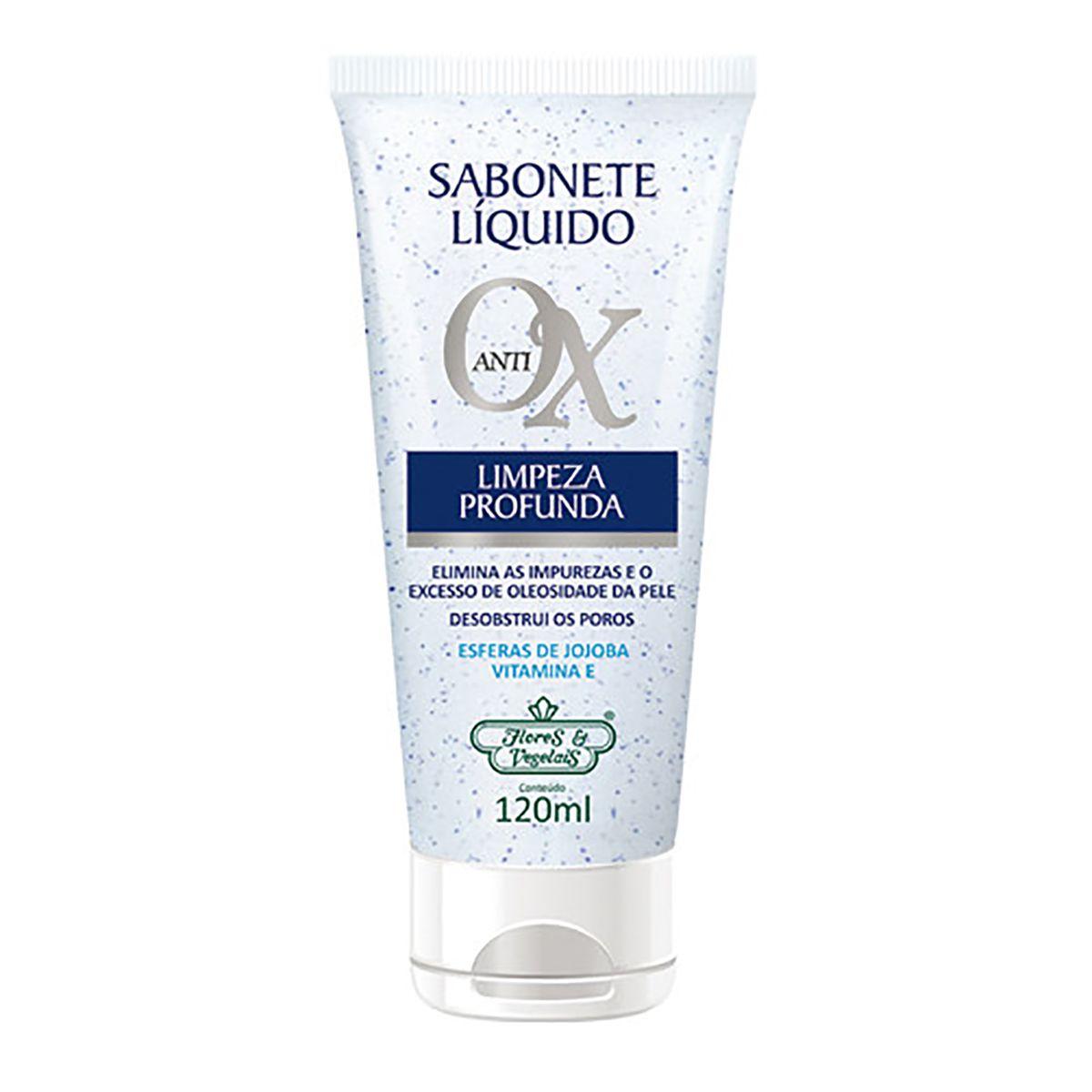 Sabonete Liquido Facial Antiox Flores e Vegetais - 120ML