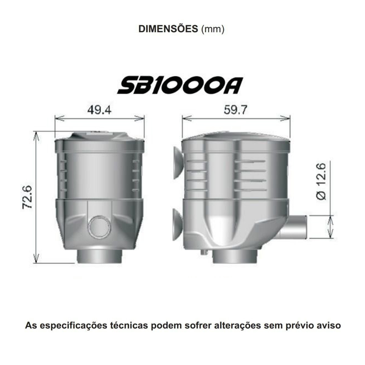 Bomba Submersa Sarlo Better SB 1000a 400 A 1000l/h 220v
