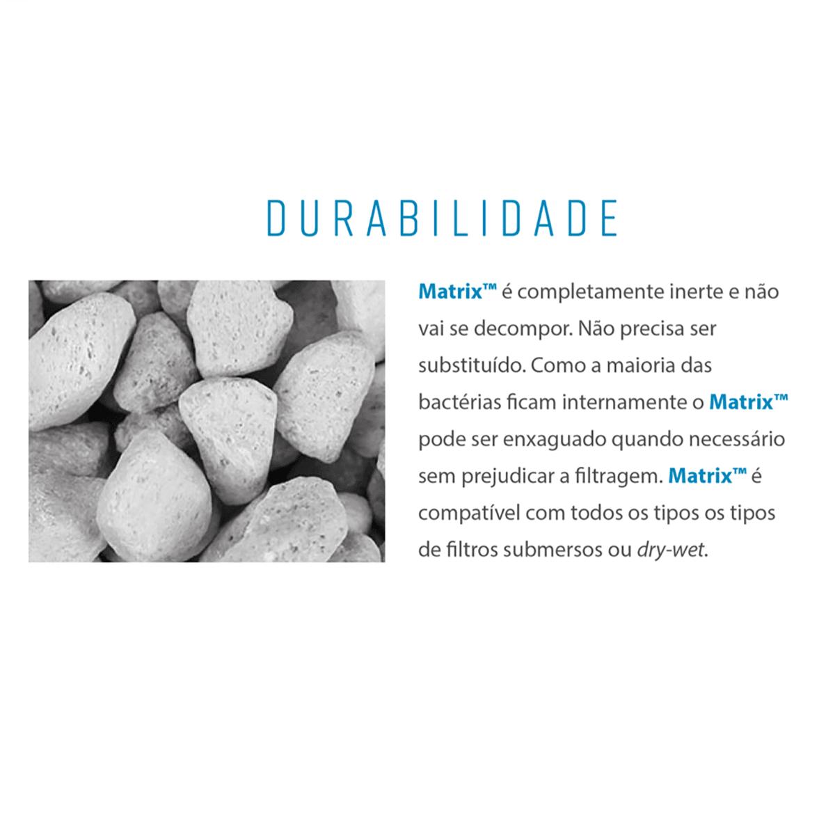 Mídia Biológica Seachem Matrix 4 Litros Ajuda na Remoção de Amônia Nitrito e Nitrato