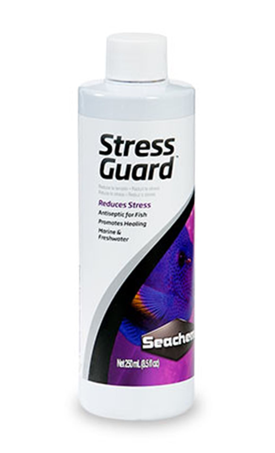 Reduz Stress e Toxicidade da Amônia SEACHEM STRESS GUARD 250ML