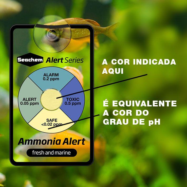 Seachem Teste Amônia Alert Durabilidade De 1 Ano No Aquário