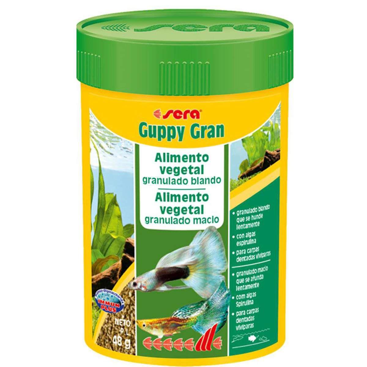 Sera Guppy Gran 48g - Ração especial para Lebistes