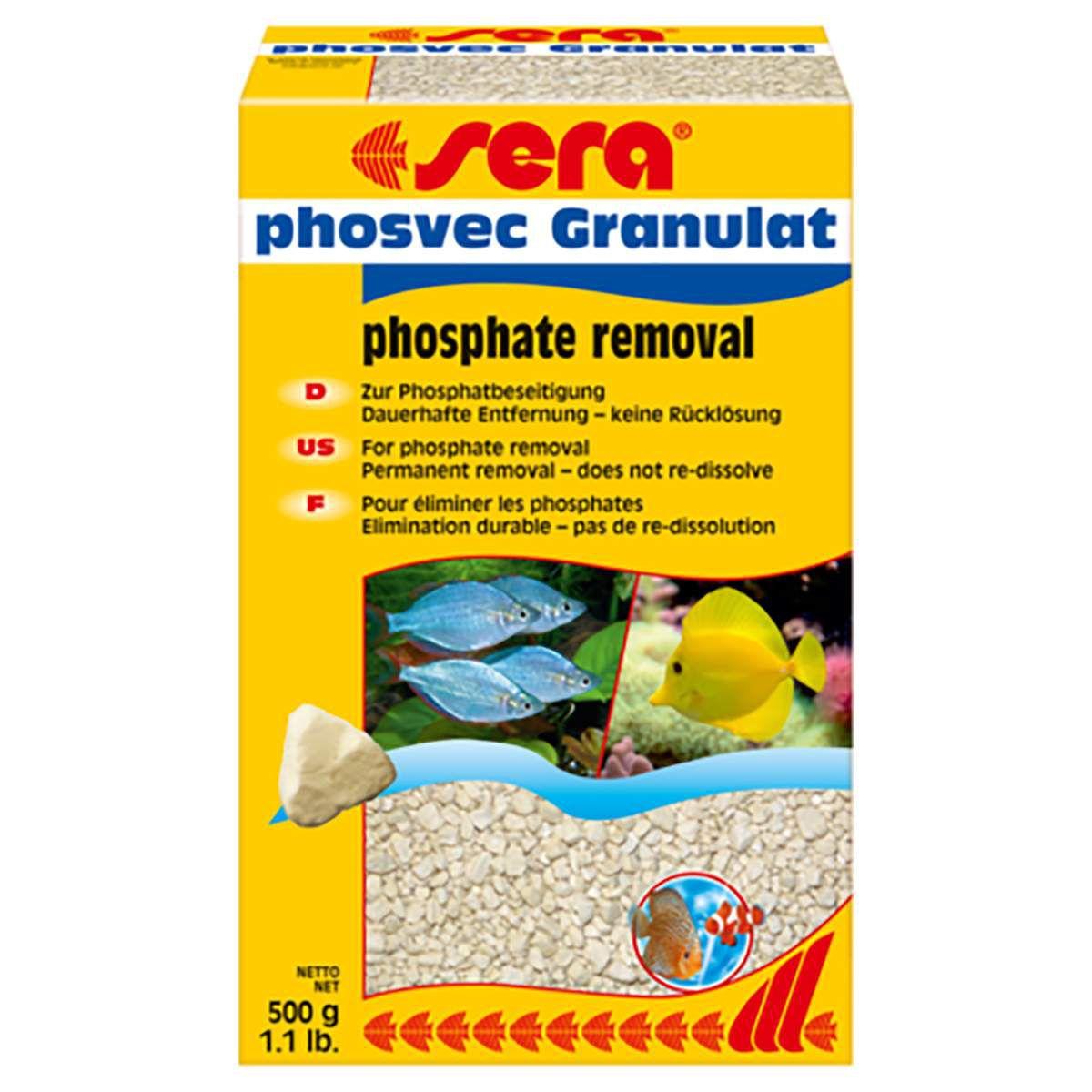 Sera Phosvec Granulat 500g Removedor de Fosfato