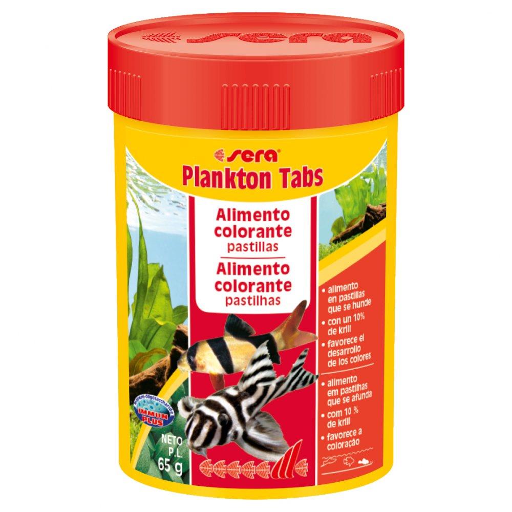 Sera Plankton Tabs 65g Suplemento Alimentar para Peixes de Fundo