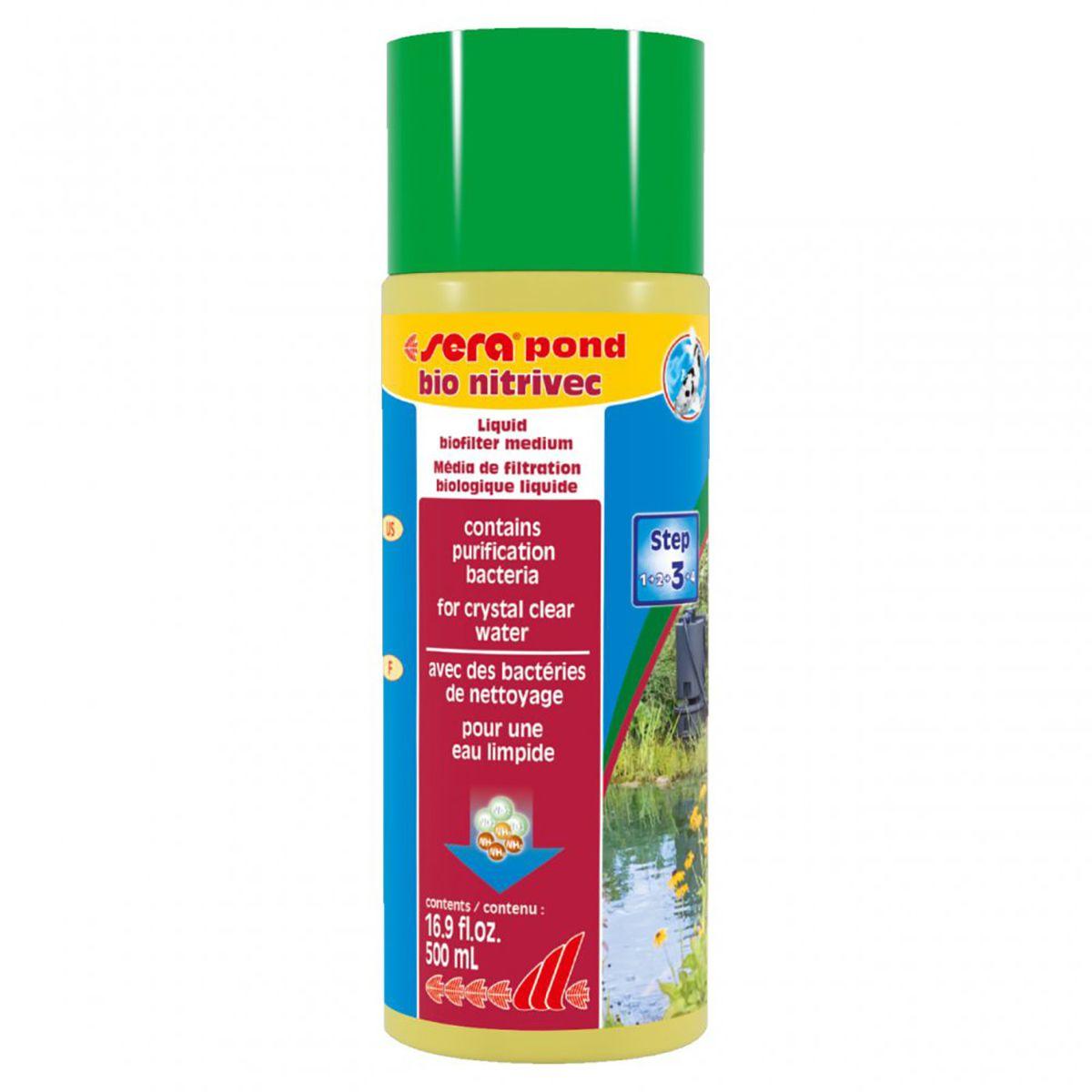 Material Filtrante Líquido Sera Pond Bio Nitrivec 500ml