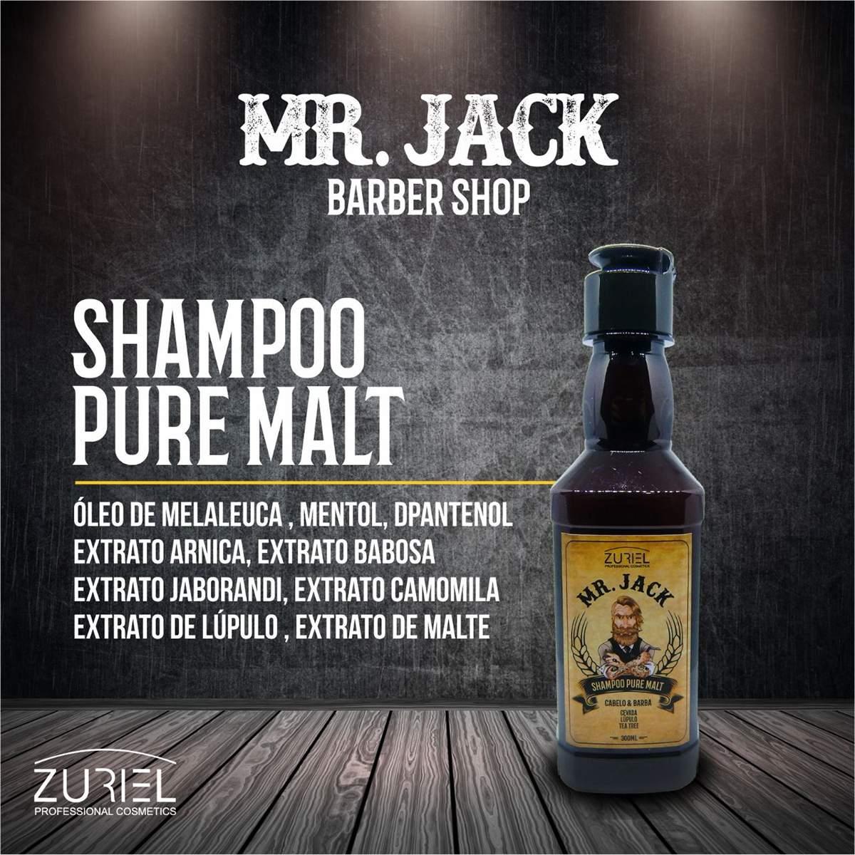Shampoo Capilar Masculino Pure Malt Mr Jack - 300ml