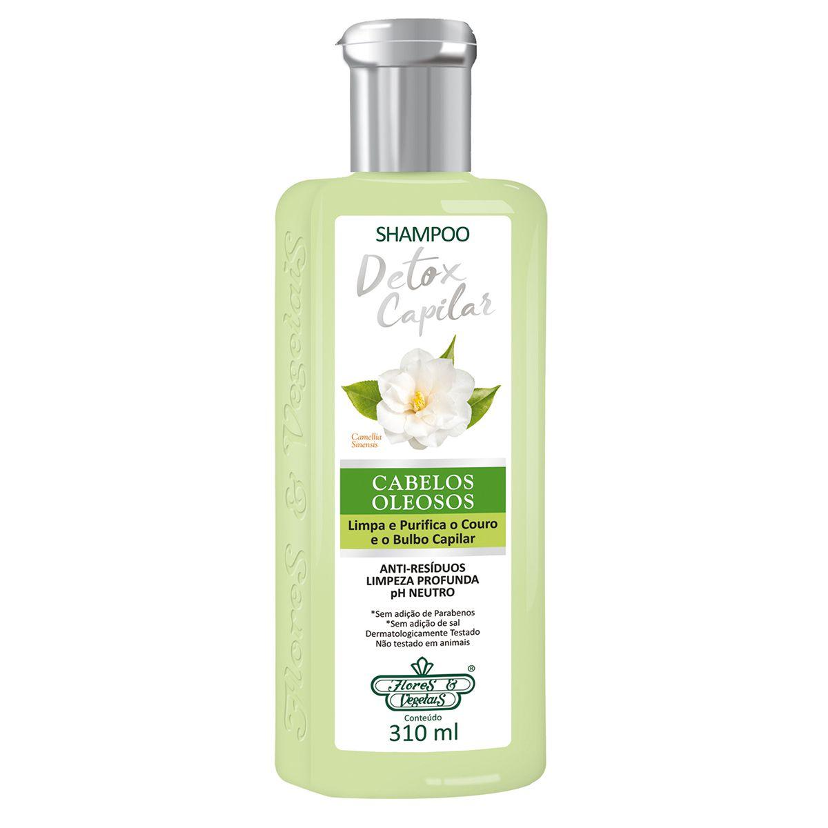 Shampoo Flores e Vegetais Detox Capilar 310ml