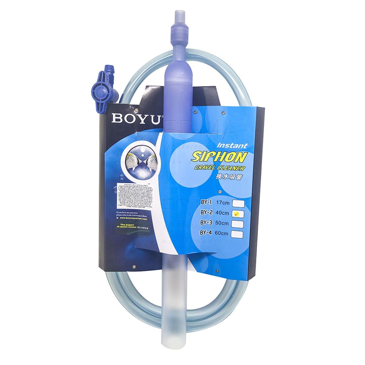 Sifão Boyu BY-2 para Limpeza de Aquários 40x4cm