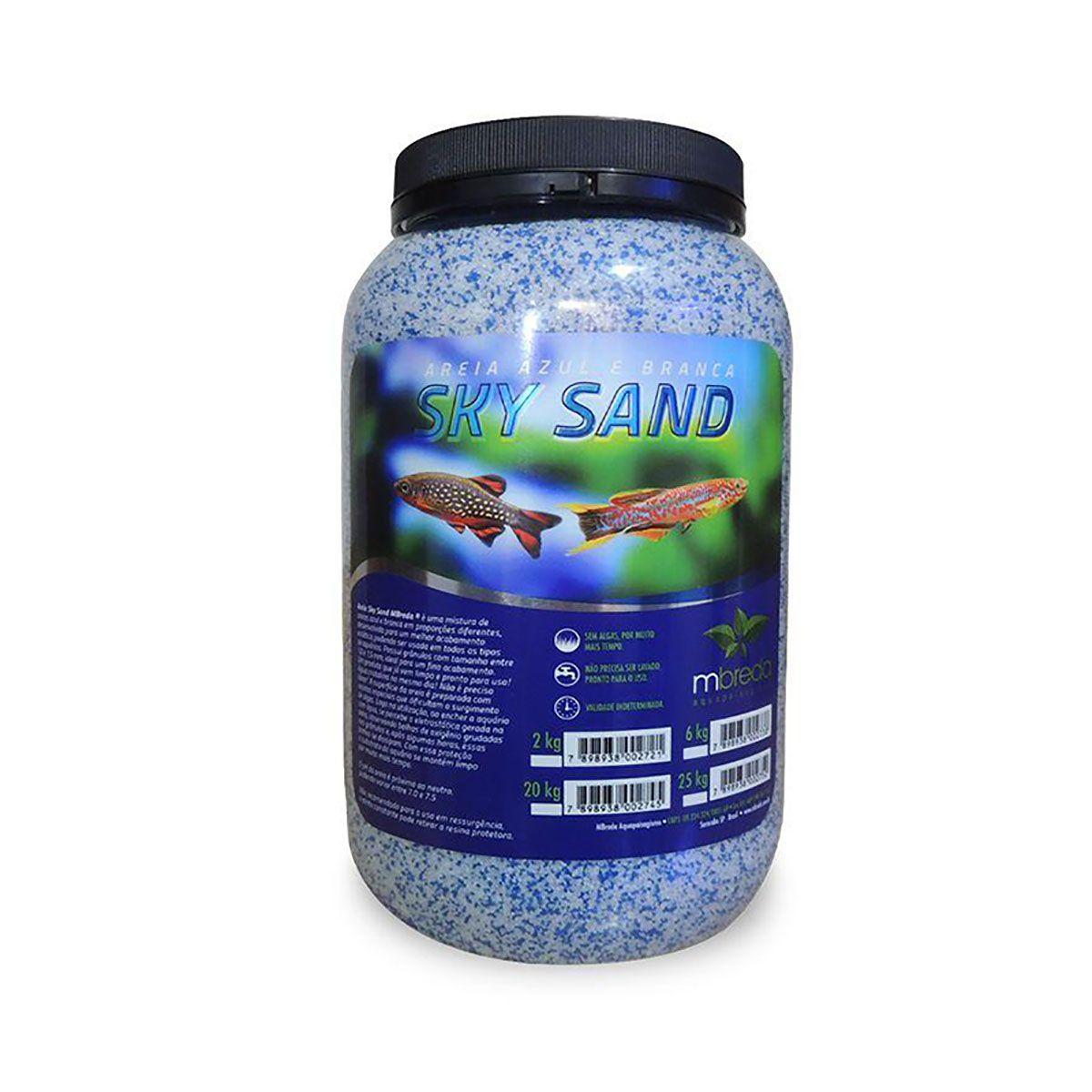 Sky Sand Areia Branca e Azul Mbreda - Pote 6Kg