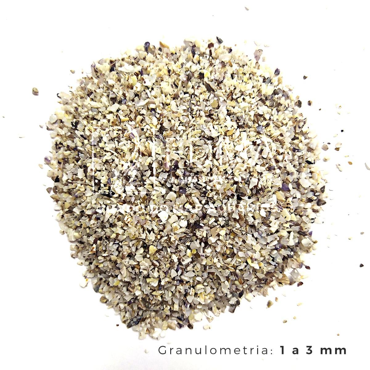 Substrato Aragonita para Aquários e Jardins N°0 - 1kg