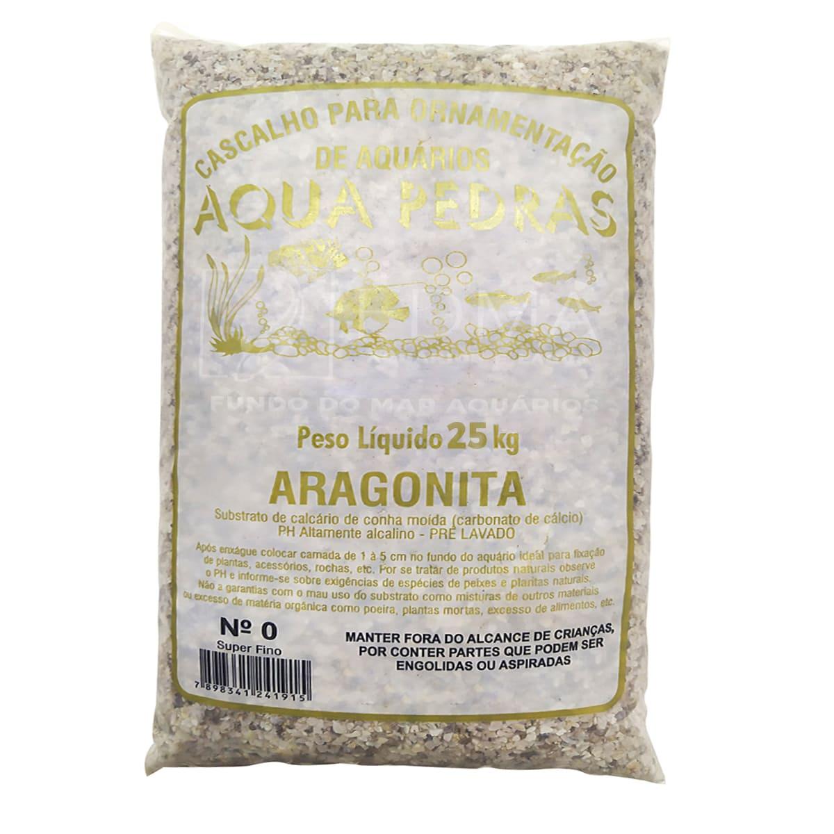 Substrato Aragonita para Aquários e Jardins N°0 - 25kg