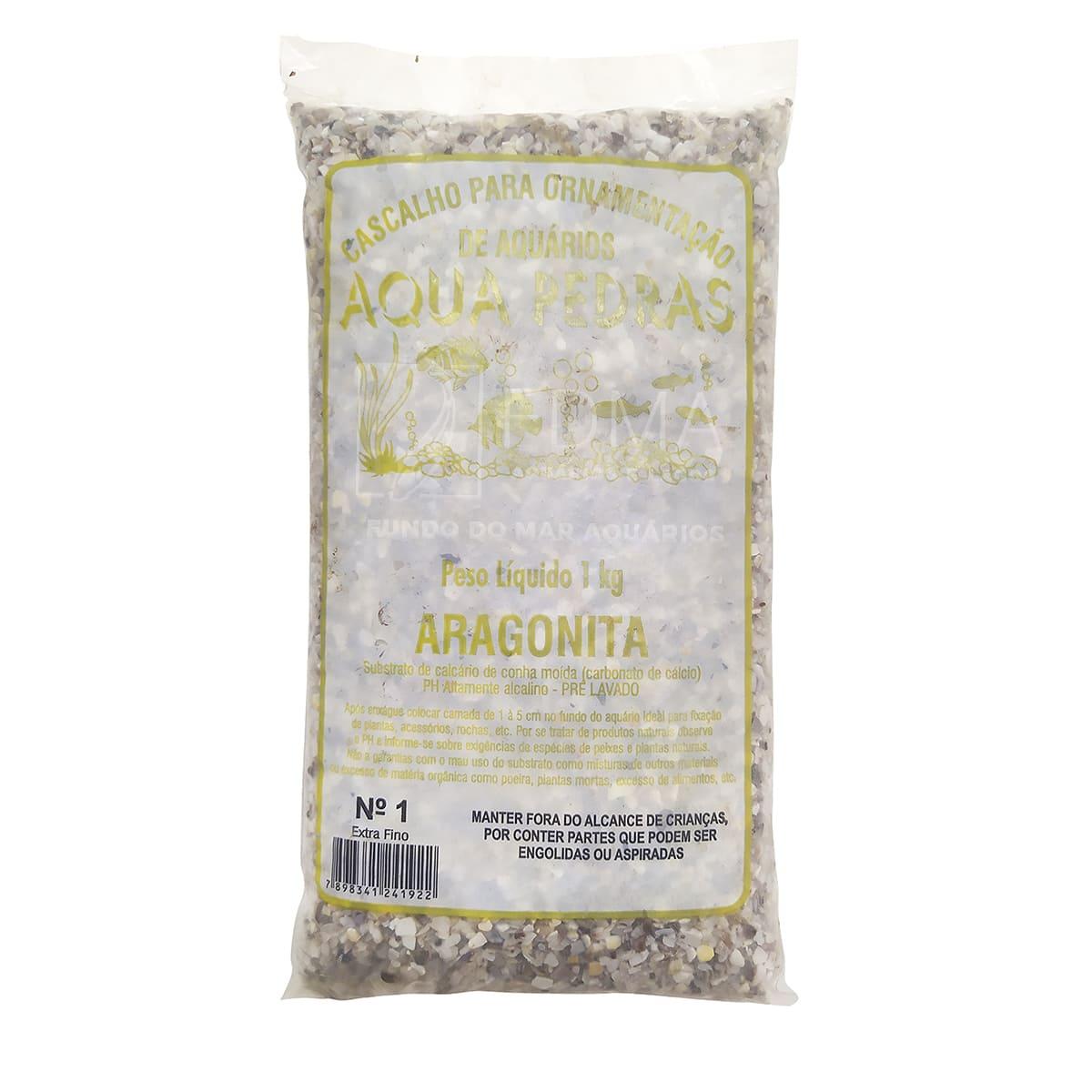 Substrato Aragonita para Aquários e Jardins N°1 - 1kg