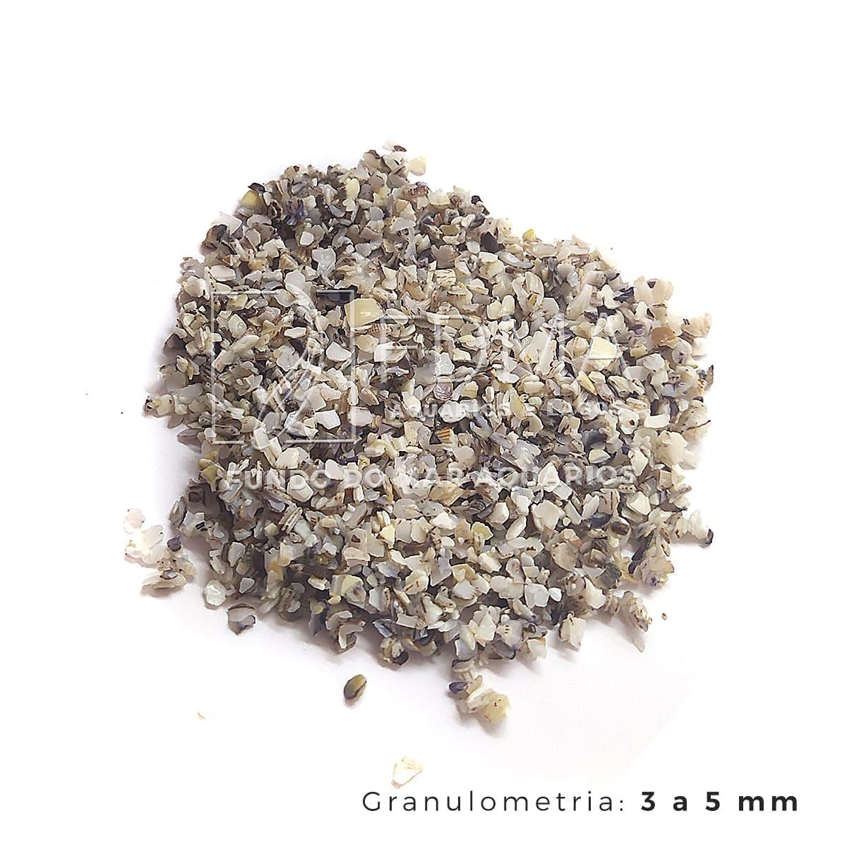 Substrato Aragonita para Aquários e Jardins N°1 - 5kg
