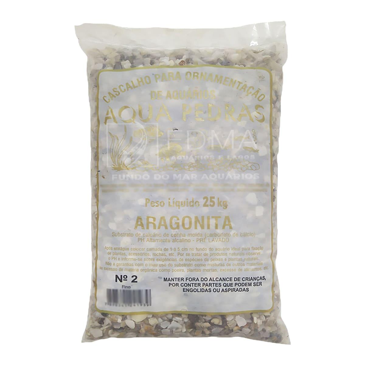 Substrato Aragonita para Aquários e Jardins N°2 - 25kg