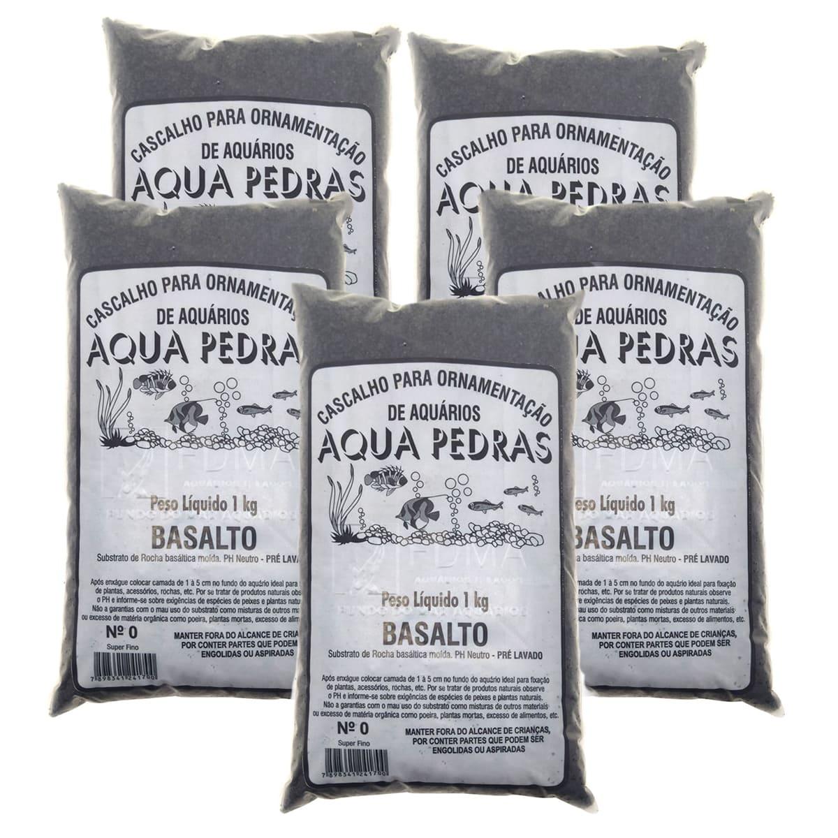 Substrato Basalto p/ Aquários e Jardins Decoração N°0 -5kg