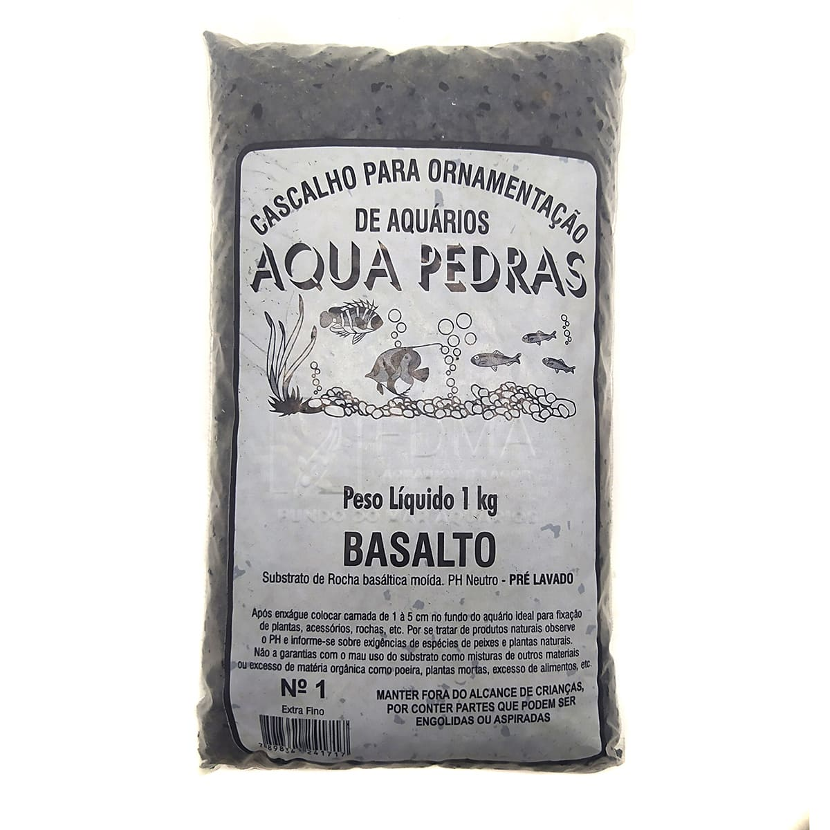 Substrato Basalto p/ Aquários e Jardins Decoração N°1 -1kg
