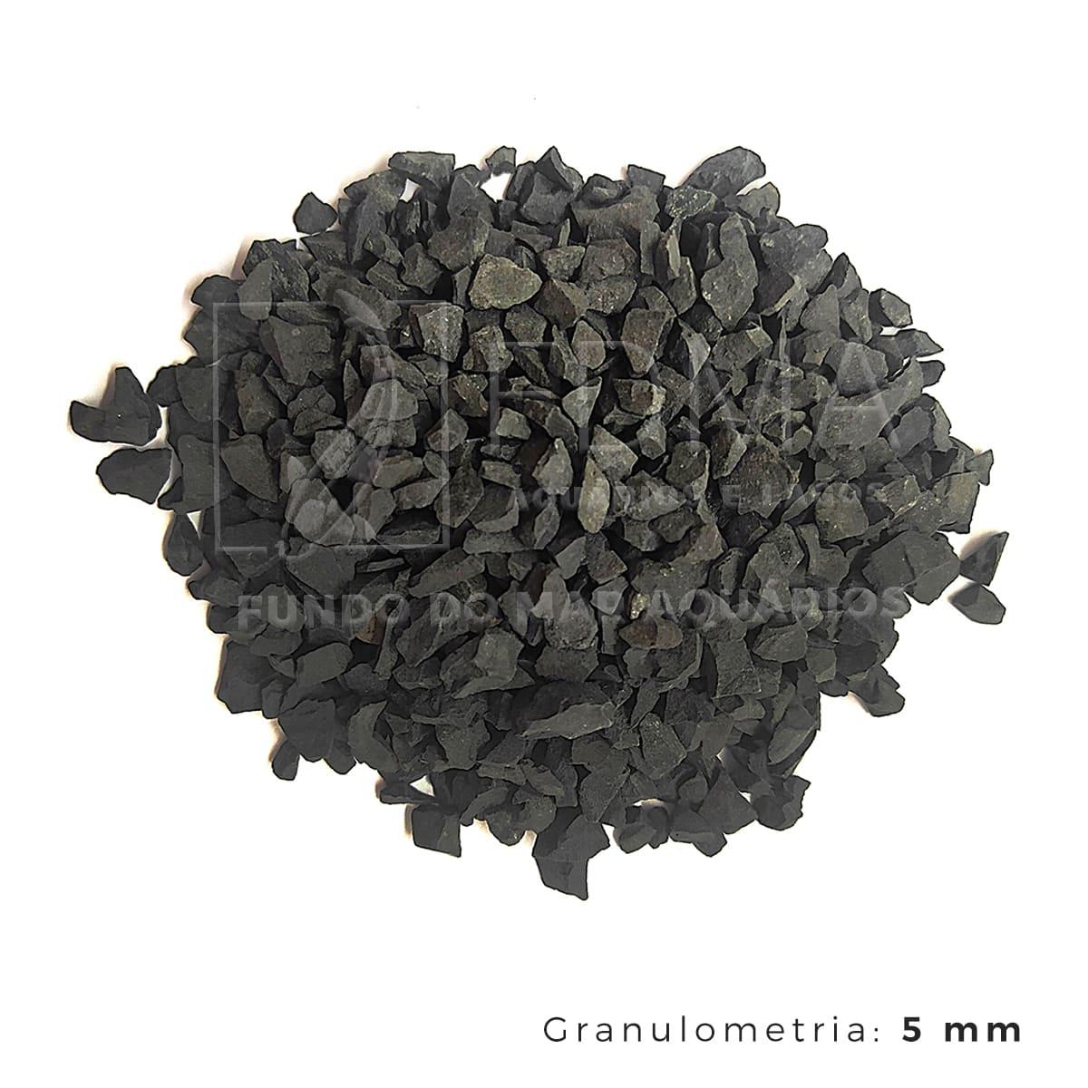 Substrato Basalto p/ Aquários e Jardins Decoração N°2 -1kg