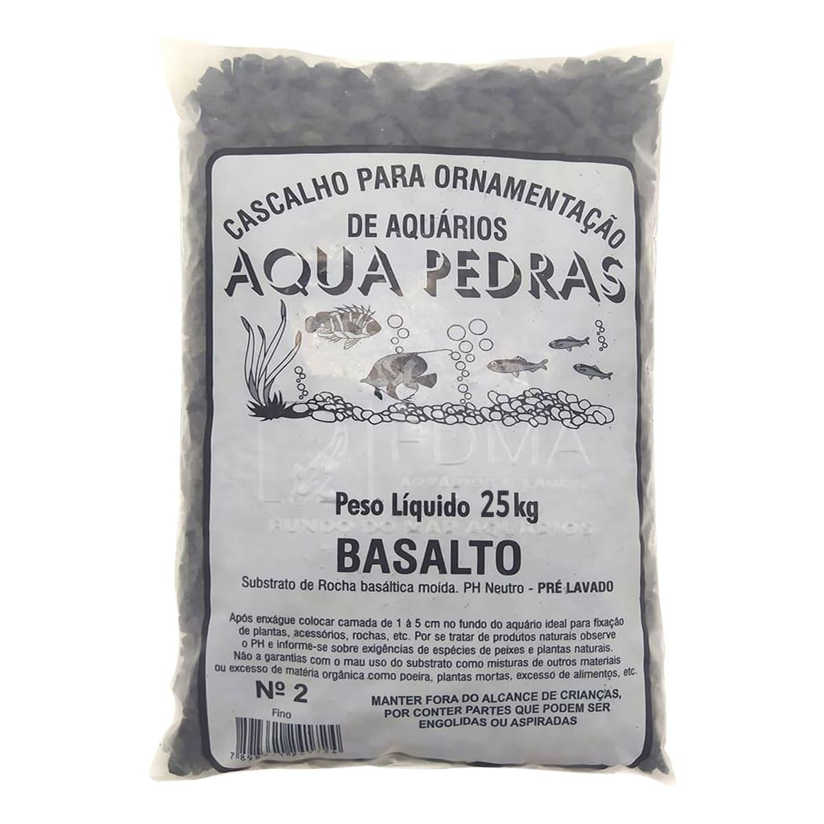 Substrato Basalto p/ Aquários e Jardins Decoração N°2 -25kg