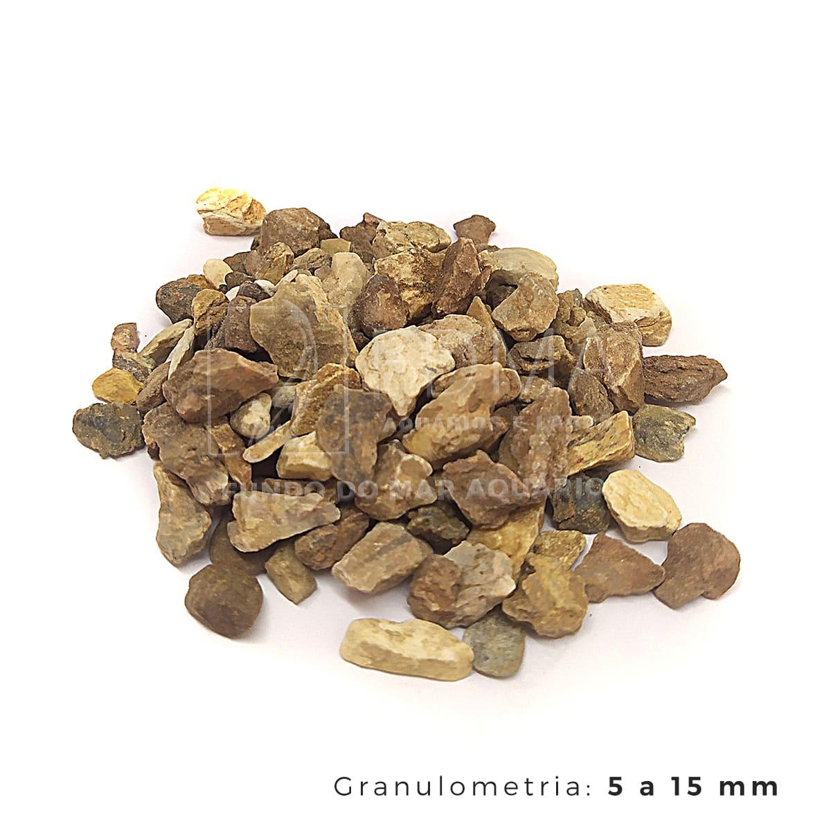Substrato Cascalho Mineiro para Aquários e Jardins N°3 - 3kg
