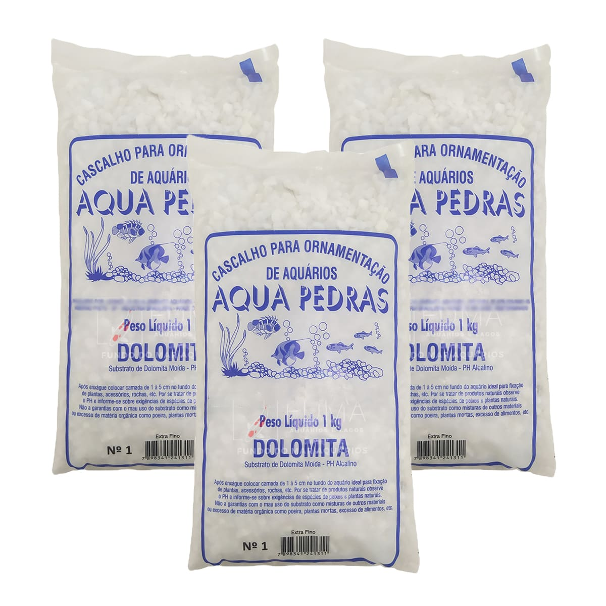 Substrato Dolomita para Aquários e Jardins Decoração N°1 3kg