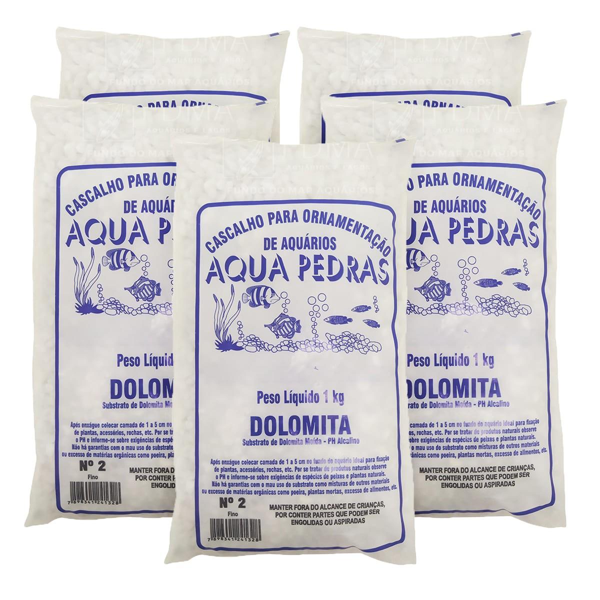Substrato Dolomita para Aquários e Jardins Decoração N°2 5kg