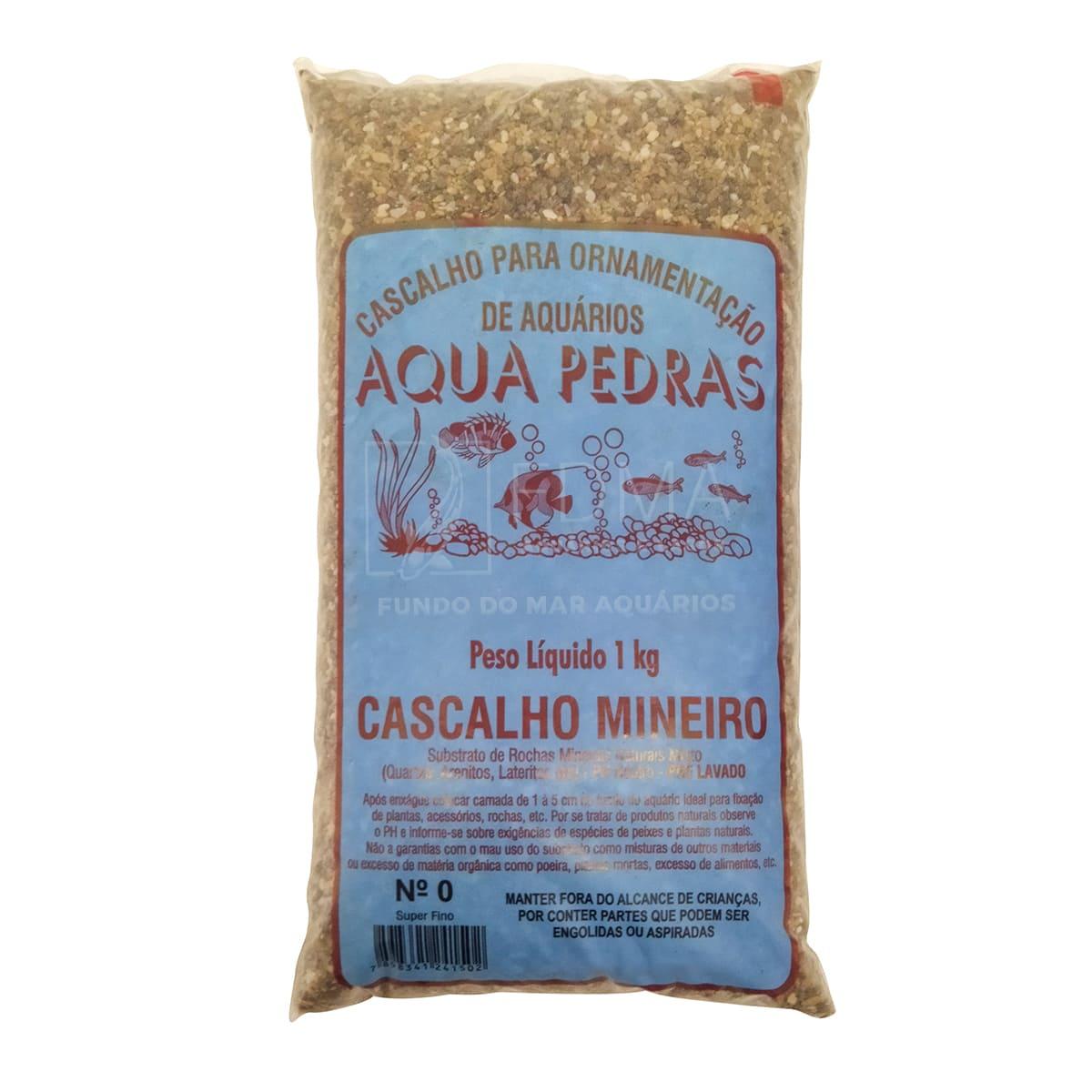 Substrato Cascalho Mineiro para Aquários e Jardins N°0 1kg