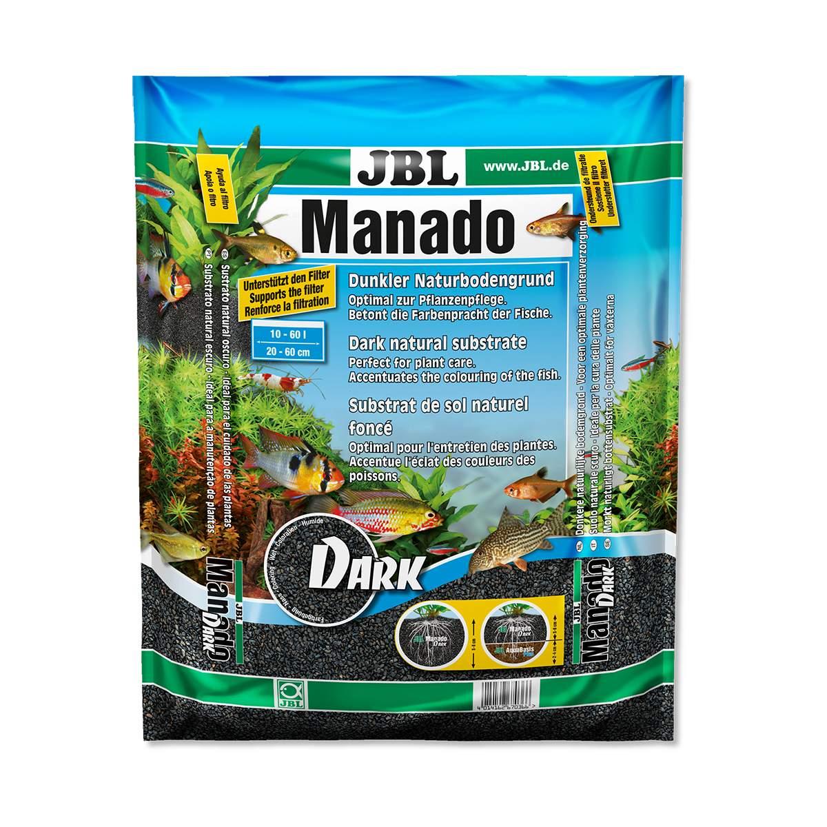 Substrato Fértil JBL Manado Dark 3L para Aquários Plantados