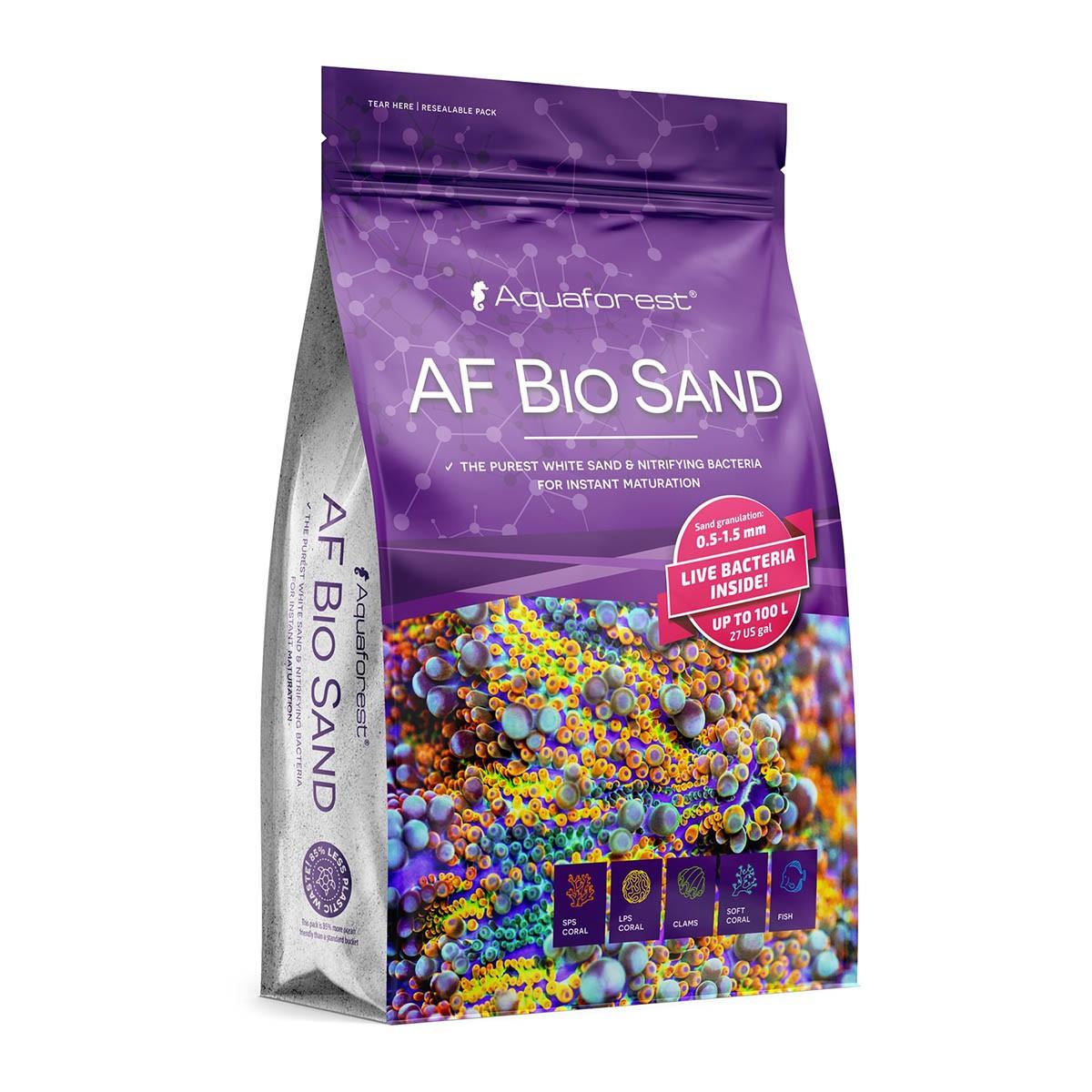 Aquaforest Bio Sand 7,5kg Areia Branca Natural Doce e Marinho