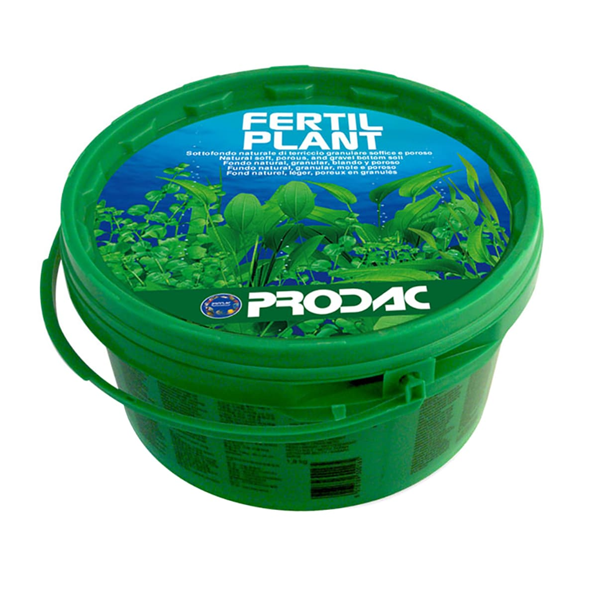 Substrato Prodac Fertil Plant 1,8kg 2,4l Aquario Plantado