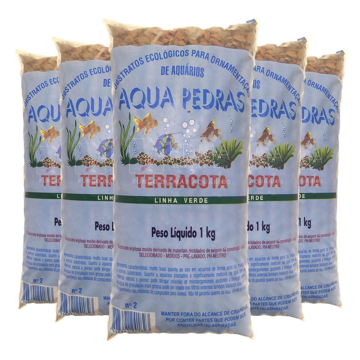 Substrato Terracota Aqua Pedras Aquários e Jardins N°2 - 5kg
