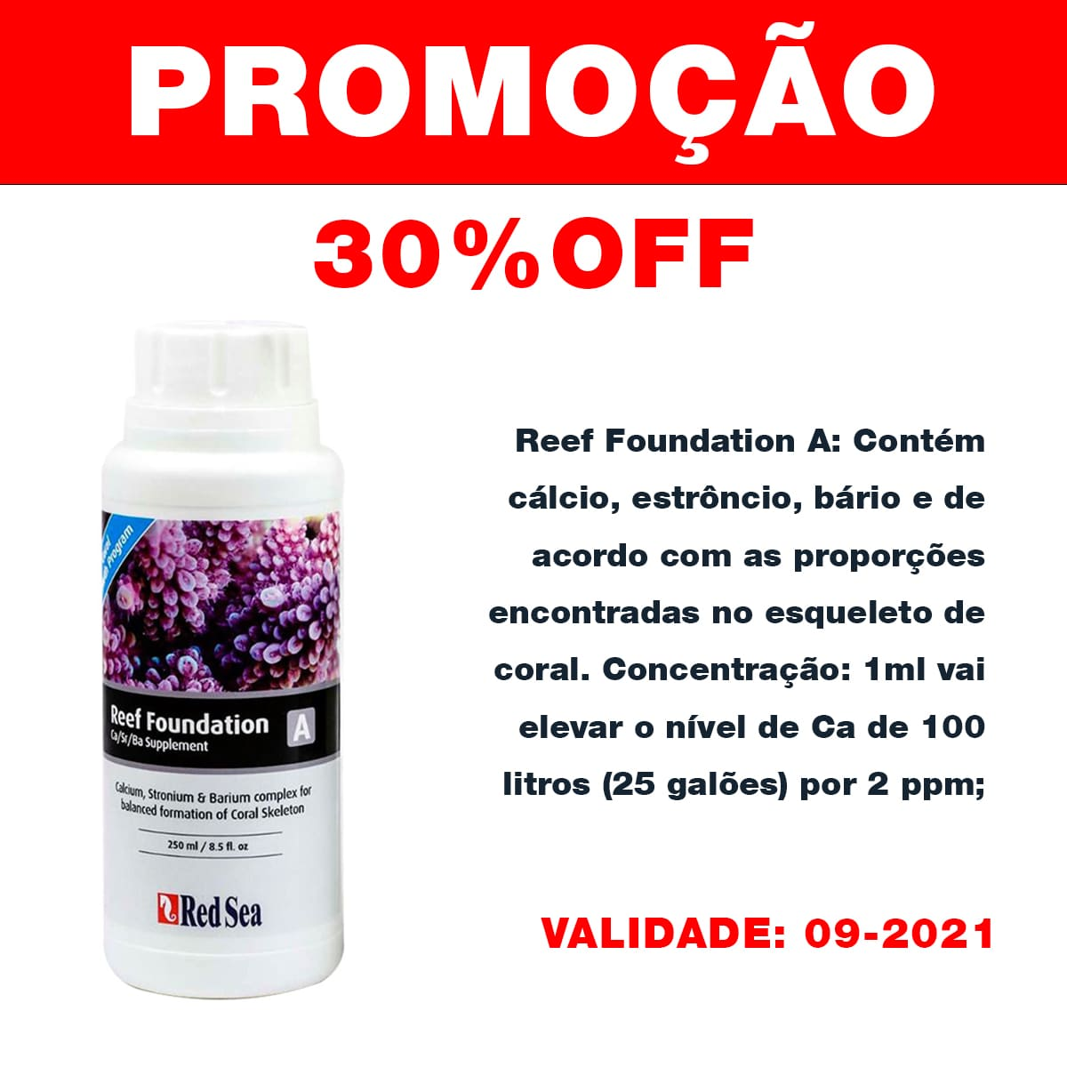 Suplemento Red Sea Reef Foundation A (ca/sr) 250ml