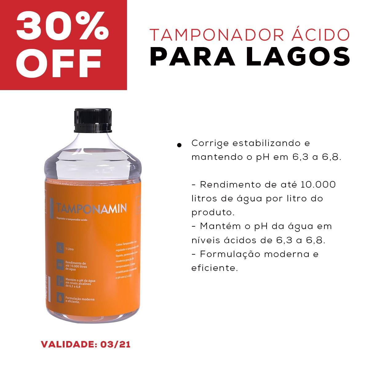 Tamponador Ácido para Lagos CUBOS WATER TAMPONAMIN - 1 LITRO