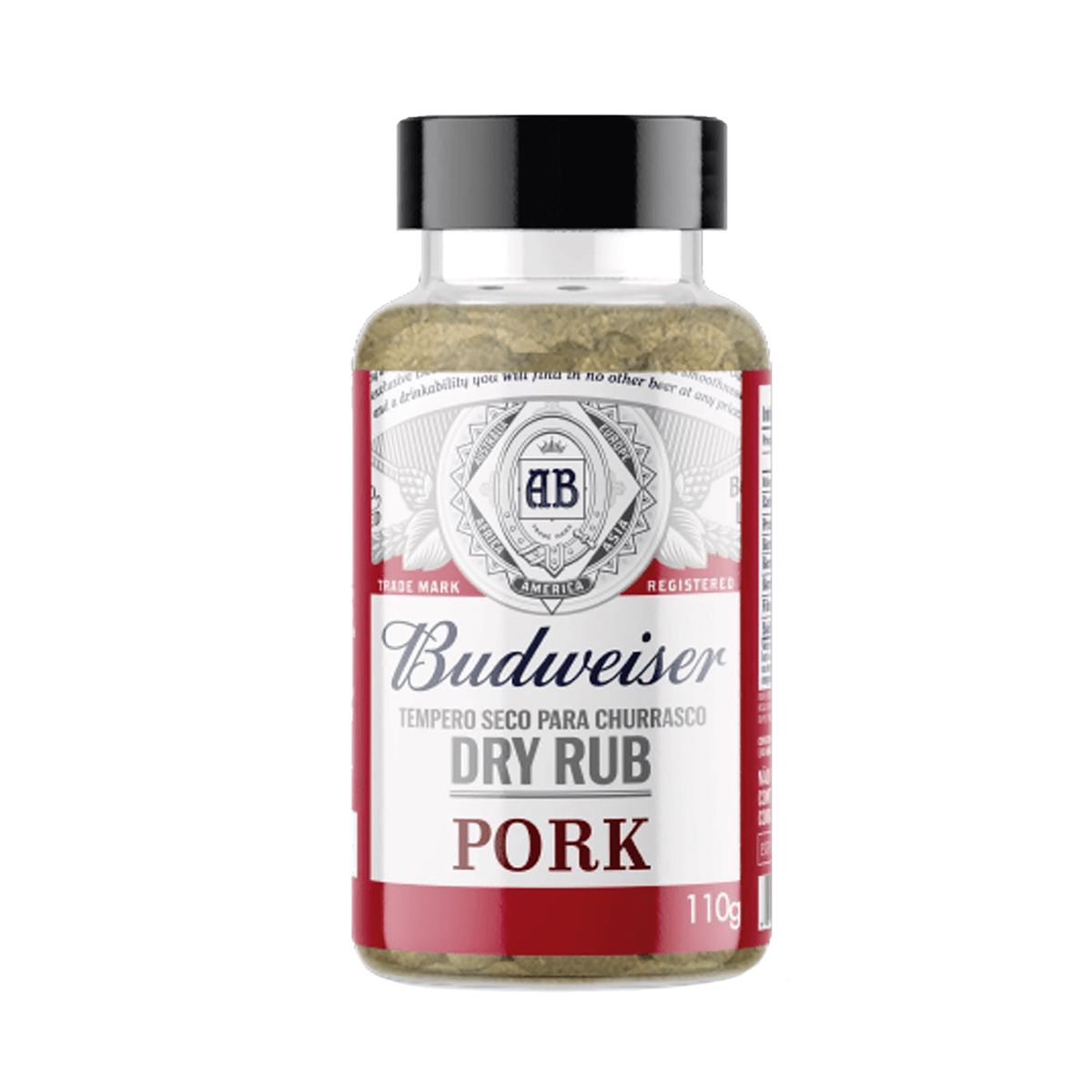 Tempero Seco para Carne de Porco Budweiser Dry Rub Pork 110g