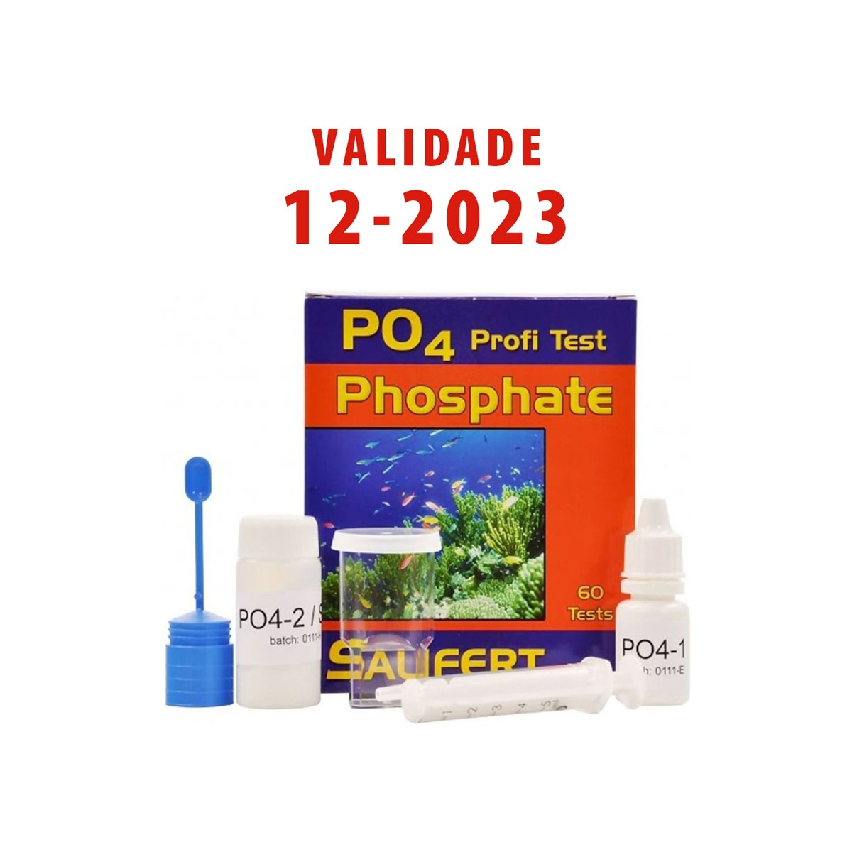Teste Salifert Po4 Fosfato Aquários Marinhos Faz Até 60 Testes