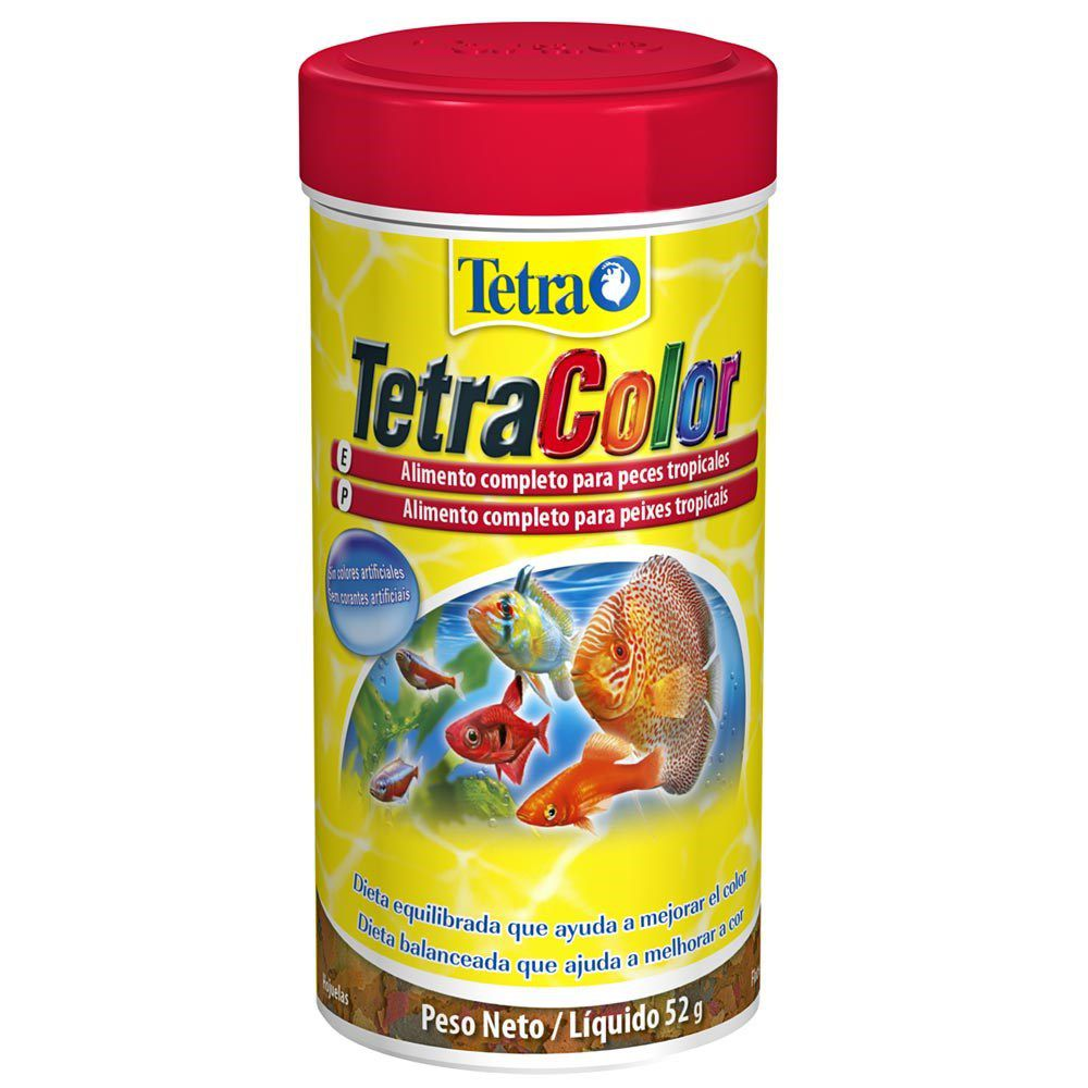 Alimento Colorante para Peixes Tetra Colors Flakes - 52g