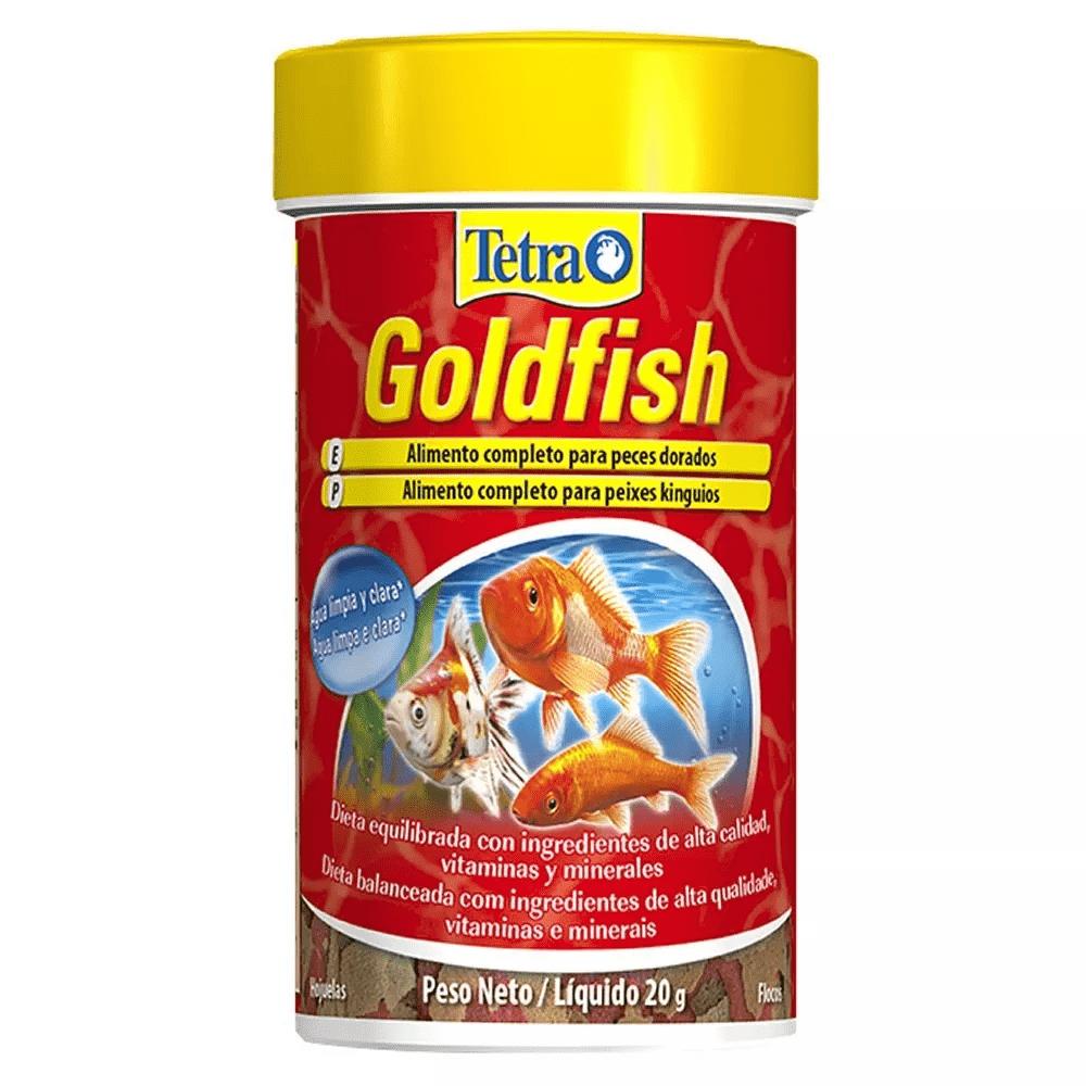 Ração Tetra Goldfish Flakes 20g Flocos Especial Para Kinguio