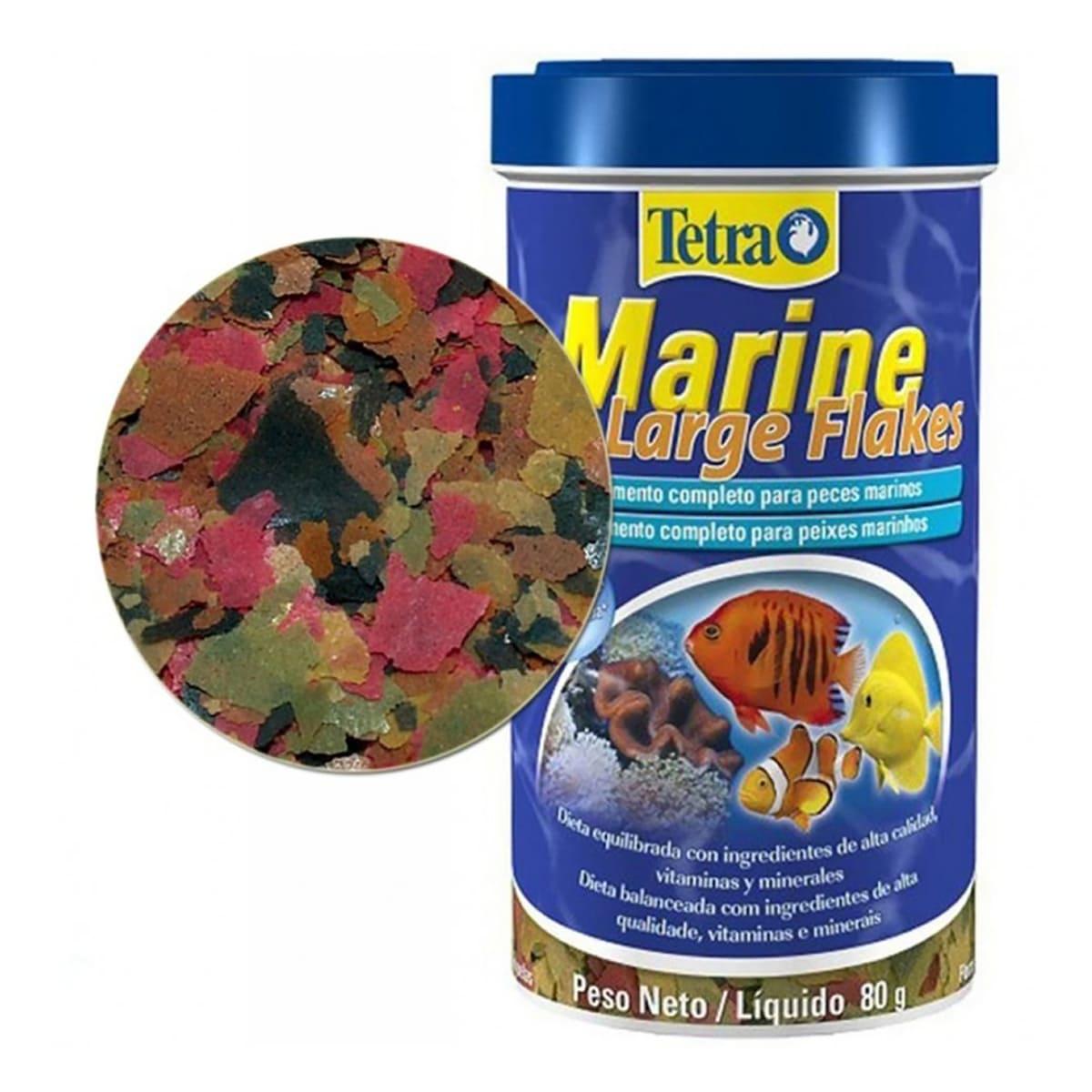 Tetra Marine Large Flakes 80g Alimento para Peixes Marinhos