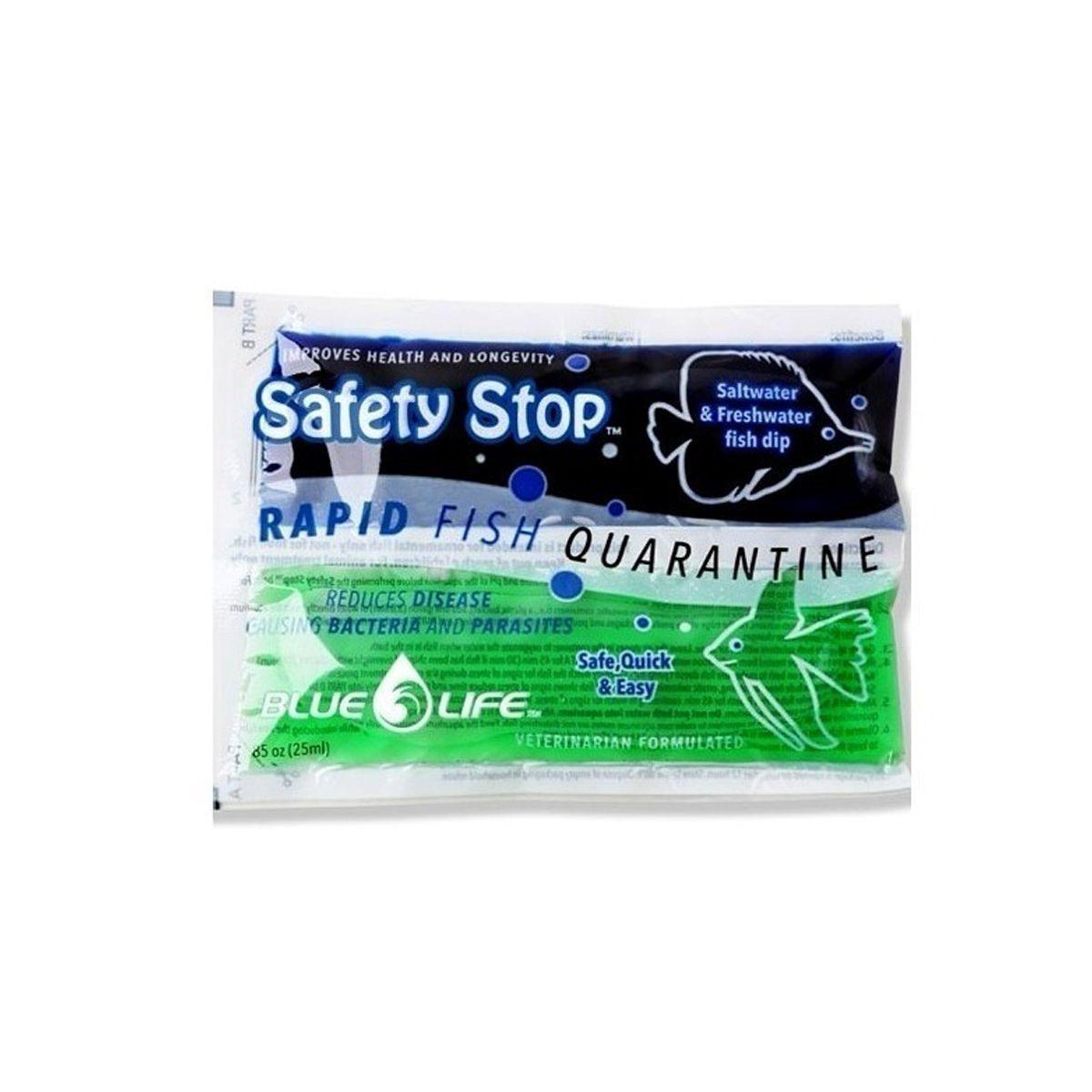 Tratamento Para Peixes Aquario Safety Stop Blue Life 25 Ml