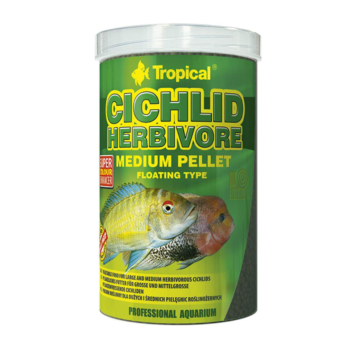 Tropical Cichlid Herbivore Medium Pellet 180g