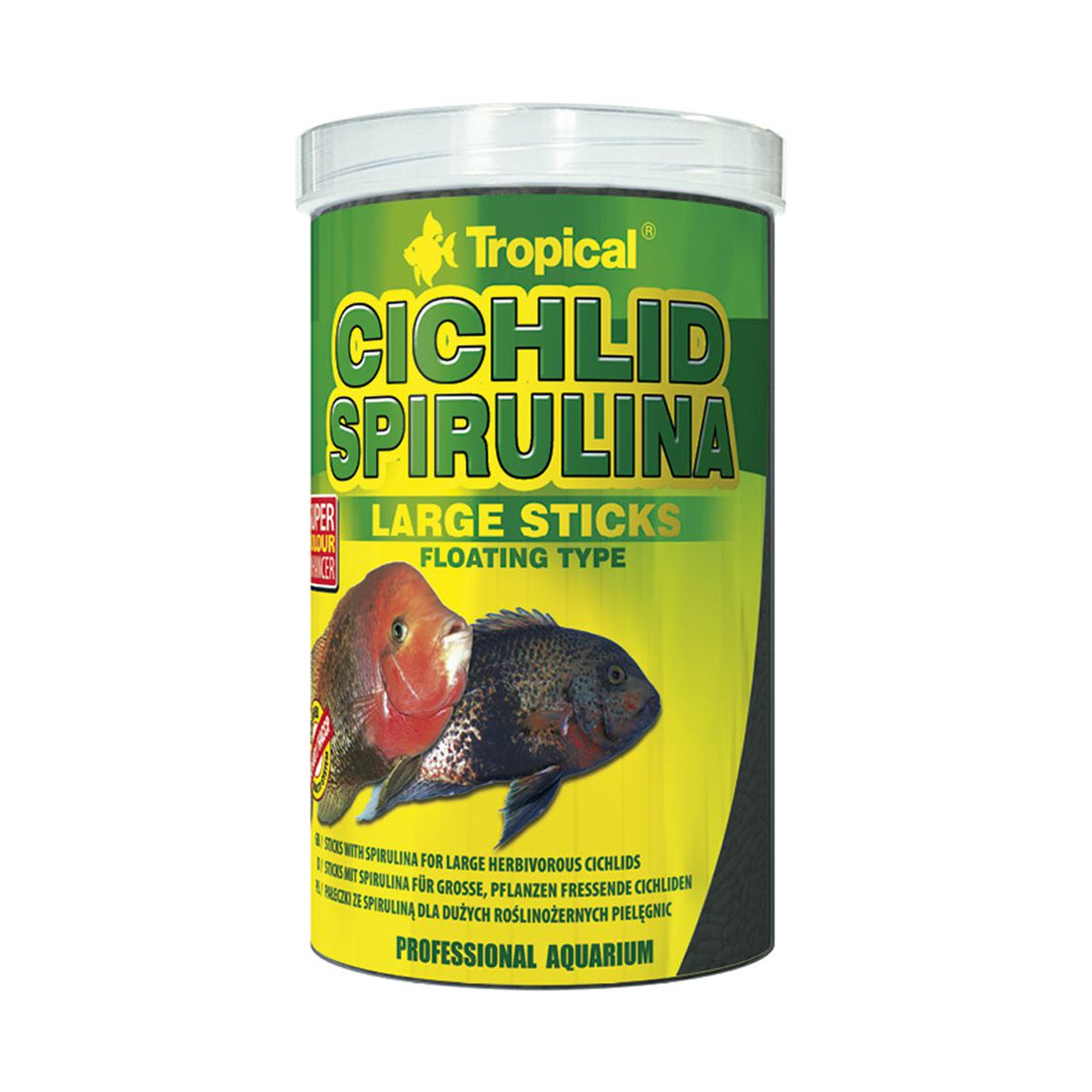 Tropical Cichlid Spirulina Large Sticks 75g