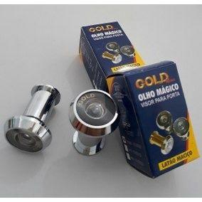 Visor Olho Mágico P/ Porta Gold Latão Cromado 46mm