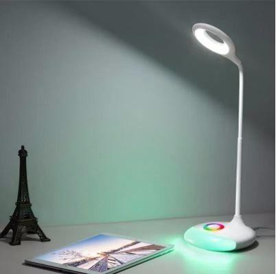 Luminária Led De Mesa Delis Rgb Articulada Touch