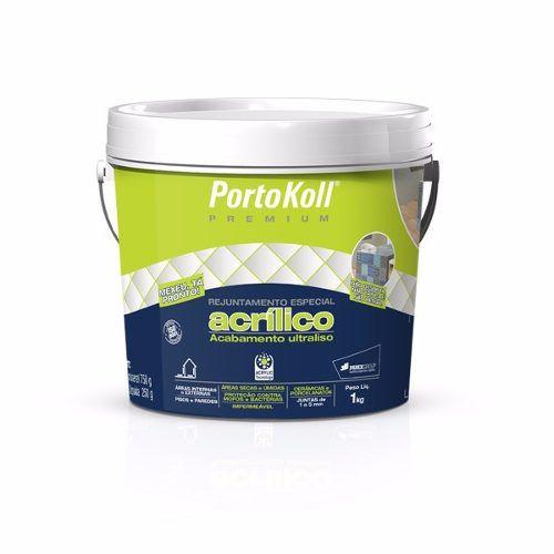 Rejunte Acrílico Portokoll Cinza Platina 1 Kg