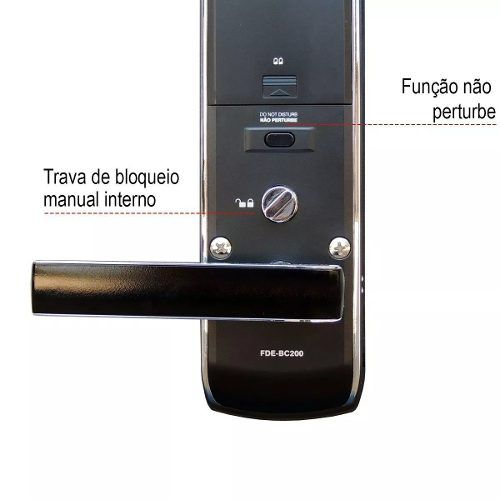 Fechadura Digital Fde-bc200 Pado Teclado Touch Screen