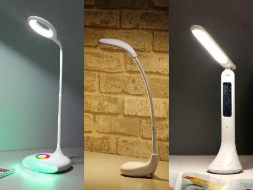 Luminária De Mesa Led Delis Com Display Calendário Digital