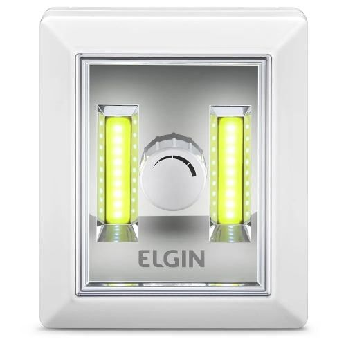 Mini Luminária Button Led Dimerizável 3w 6500k Branca Elgin